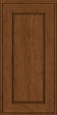 Square Raised Panel - Solid (AB1C) Cherry in Rye w/Sable Glaze - Wall