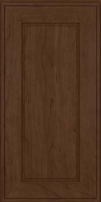 Square Raised Panel - Solid (AB1C) Cherry in Saddle Suede - Wall