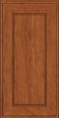 Square Raised Panel - Solid (AB1C) Cherry in Sunset - Wall