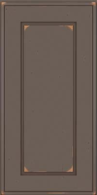 Square Raised Panel - Solid (AB1C) Cherry in Vintage Greyloft w/ Sable Patina - Wall