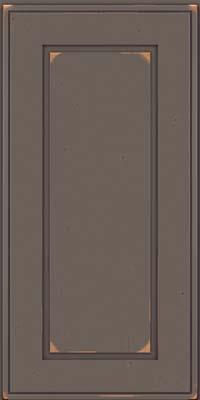 Square Raised Panel - Solid (AB1C) Cherry in Vintage Greyloft - Wall
