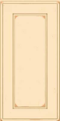 Square Raised Panel - Solid (AB1C) Cherry in Vintage Biscotti - Wall