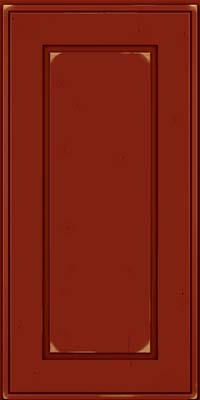 Square Raised Panel - Solid (AB1C) Cherry in Vintage Cardinal - Wall