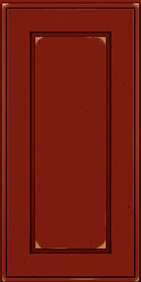 Square Raised Panel - Solid (AB1C) Cherry in Vintage Cardinal w/Onyx Patina - Wall