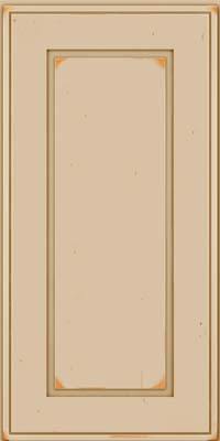 Square Raised Panel - Solid (AB1C) Cherry in Vintage Mushroom - Wall