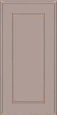Square Raised Panel - Solid (AB1C) Cherry in Vintage Pebble Grey - Wall