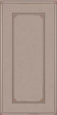 Square Raised Panel - Solid (AB1C) Cherry in Vintage Pebble Grey w/ Cocoa Patina - Wall