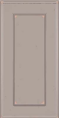 Square Raised Panel - Solid (AB1C) Cherry in Vintage Pebble Grey w/ Coconut Patina - Wall