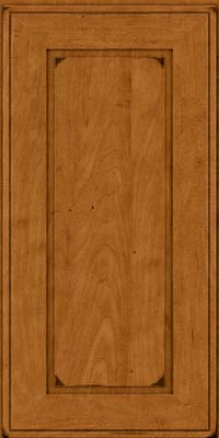Square Raised Panel - Solid (AB1M) Maple in Burnished Golden Lager - Wall