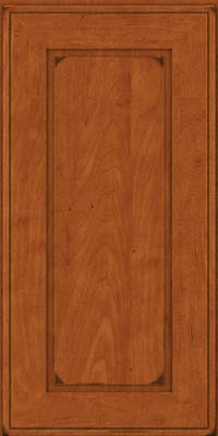 Square Raised Panel - Solid (AB1M) Maple in Burnished Cinnamon - Wall