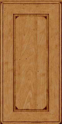 Square Raised Panel - Solid (AB1M) Maple in Burnished Ginger - Wall