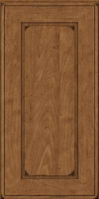 Square Raised Panel - Solid (AB1M) Maple in Burnished Rye - Wall
