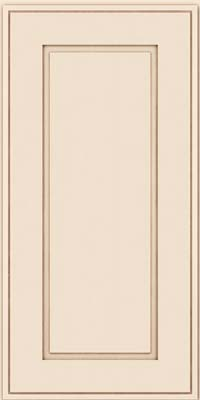 Square Raised Panel - Solid (AB1M) Maple in Canvas w/Cocoa Glaze - Wall