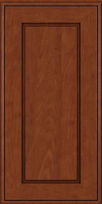 Square Raised Panel - Solid (AB1M) Maple in Chestnut w/Onyx Glaze - Wall