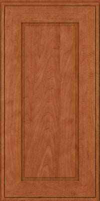 Square Raised Panel - Solid (AB1M) Maple in Cinnamon - Wall