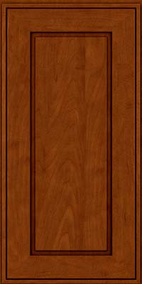 Square Raised Panel - Solid (AB1M) Maple in Cinnamon w/Onyx Glaze - Wall