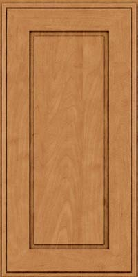 Square Raised Panel - Solid (AB1M) Maple in Ginger w/Sable Glaze - Wall