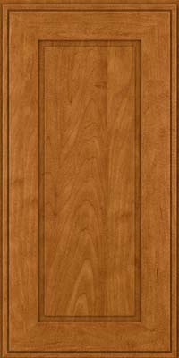 Square Raised Panel - Solid (AB1M) Maple in Golden Lager - Wall