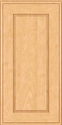 Square Raised Panel - Solid (AB1M) Maple in Honey Spice - Wall