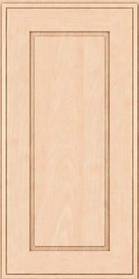 Square Raised Panel - Solid (AB1M) Maple in Parchment - Wall