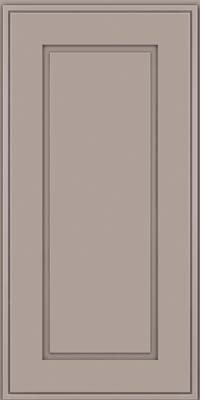 Square Raised Panel - Solid (AB1M) Maple in Pebble Grey - Wall