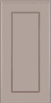 Square Raised Panel - Solid (AB1M) Maple in Pebble Grey w/ Coconut Glaze - Wall