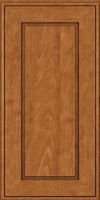 Square Raised Panel - Solid (AB1M) Maple in Praline w/Onyx Glaze - Wall