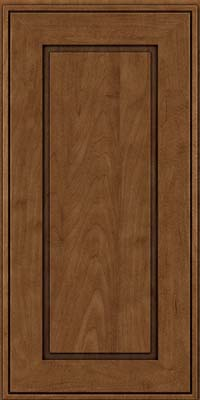 Square Raised Panel - Solid (AB1M) Maple in Rye w/Onyx Glaze - Wall
