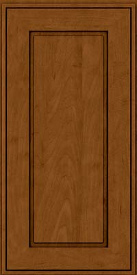 Square Raised Panel - Solid (AB1M) Maple in Rye w/Sable Glaze - Wall
