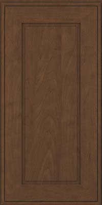 Square Raised Panel - Solid (AB1M) Maple in Saddle Suede - Wall