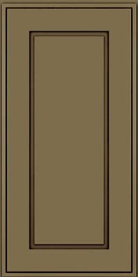 Square Raised Panel - Solid (AB1M) Maple in Sage w/Cocoa Glaze - Wall