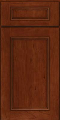 Square Recessed Panel - Solid (AB3C) Cherry in Autumn Blush - Base