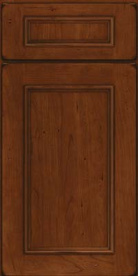 Square Recessed Panel - Solid (AB3C) Cherry in Burnished Autumn Blush - Base