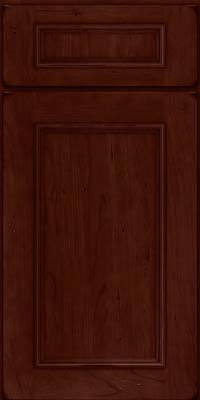 Square Recessed Panel - Solid (AB3C) Cherry in Burnished Cabernet - Base