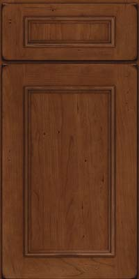 Square Recessed Panel - Solid (AB3C) Cherry in Burnished Chocolate - Base