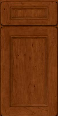 Square Recessed Panel - Solid (AB3C) Cherry in Burnished Cinnamon - Base