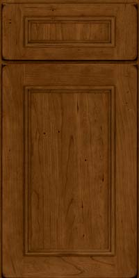 Square Recessed Panel - Solid (AB3C) Cherry in Burnished Ginger - Base