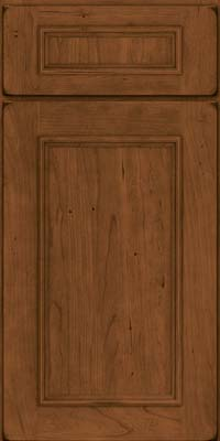 Square Recessed Panel - Solid (AB3C) Cherry in Burnished Rye - Base