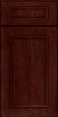 Square Recessed Panel - Solid (AB3C) Cherry in Cabernet - Base