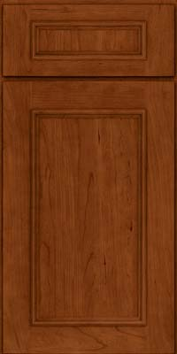 Square Recessed Panel - Solid (AB3C) Cherry in Cinnamon - Base