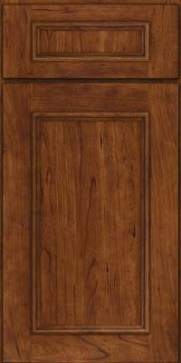 Square Recessed Panel - Solid (AB3C) Cherry in Cognac - Base