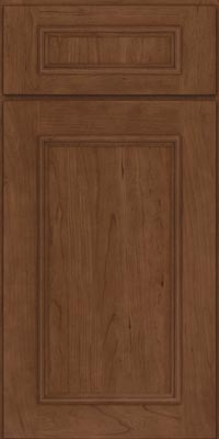 Square Recessed Panel - Solid (AB3C1) Cherry in Hazel - Base