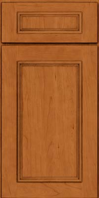 Square Recessed Panel - Solid (AB3C) Cherry in Honey Spice - Base