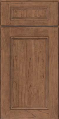 Square Recessed Panel - Solid (AB3C) Cherry in Husk Suede - Base
