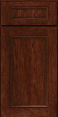 Square Recessed Panel - Solid (AB3C) Cherry in Kaffe - Base