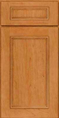 Square Recessed Panel - Solid (AB3C) Cherry in Natural - Base
