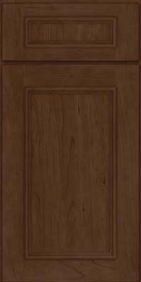 Square Recessed Panel - Solid (AB3C) Cherry in Saddle Suede - Base