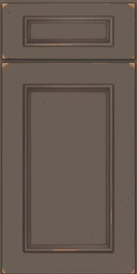 Square Recessed Panel - Solid (AB3C) Cherry in Vintage Greyloft w/ Sable Patina - Base