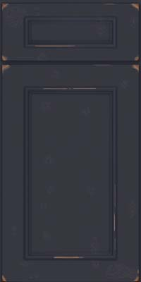 Square Recessed Panel - Solid (AB3C) Cherry in Vintage Midnight - Base