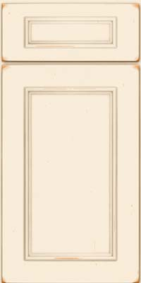 Square Recessed Panel - Solid (AB3C) Cherry in Vintage Canvas - Base